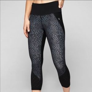 Lightly Worn Athleta Crocodile Stealth Capri